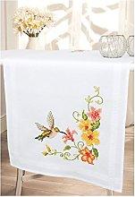 Vervaco Embroidery: Runner: Hummingbird, 100%