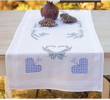 Vervaco Embroidery: Runner: Lavender & Butterfly,