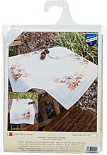 Vervaco Embroidery: Runner: Leaves, 100% Cotton,
