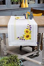Vervaco Embroidery: Runner: Sunflowers, 100%