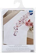Vervaco Embroidery: Runner: Swirls & Flowers, 100%