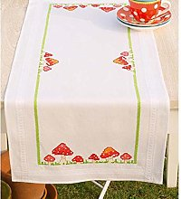 Vervaco Embroidery: Runner: Toadstools, 100%