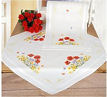Vervaco Embroidery: Runner: Wild Flowers, 100%