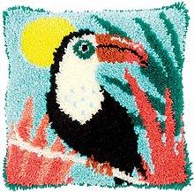 Vervaco Latch Hook Kit: Cushion: Toucan, N\A, 40 x