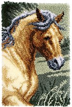Vervaco Latch Hook Rug: Horse, Polyester Cotton,