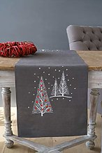 Vervaco Printed Table Runner Christmas Trees,