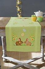 Vervaco Runner: Easter Bunnies, Polyester Cotton,