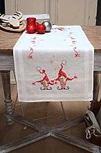 Vervaco Table Runner Kit Christmas Gnomes, Cotton,