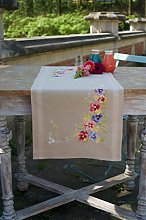 Vervaco Table Runner Kit: Violets, N\A, 40 x 100cm