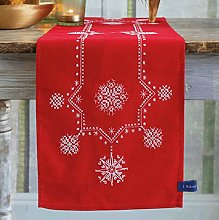 Vervaco White Christmas Stars Embroidery Table