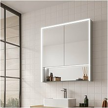 Verve 80 LED Double Door Bathroom Cabinet 900mm H