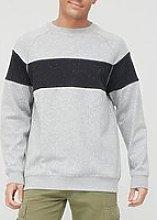 Very Man Tall Chest Panel Sweatshirt - Grey