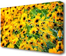 Very Yellow Flowers Canvas Print Wall Art East