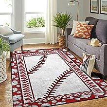 Veryday Baseball Rug Luxury Living Room Rug as