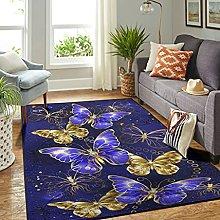 Veryday Butterfly Rug Vintage Living Room Rug Door