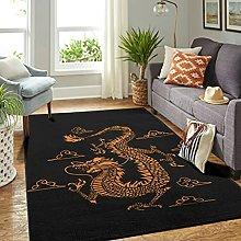 Veryday Chinese Dragon Rug Vintage Living Room Rug