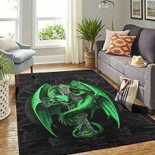 Veryday Green dragon rug, luxury living room rug,