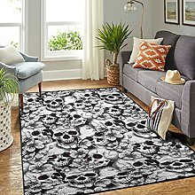 Veryday Luxury Living Room Rug with Skull and