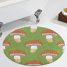 Veryday Mushroom Plants Round Rug Decorative