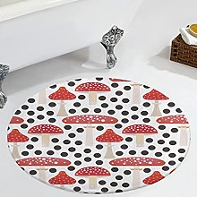 Veryday Mushroom Round Rug Luxury Bedroom Rug as
