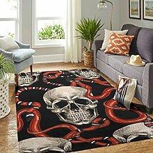 Veryday Skull Snake Rug Luxury Living Room Rug as