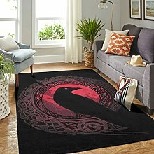 Veryday Viking Raven Rug Decorative Living Room