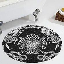 Veryday Viking Runes Round Rug Luxury Living Room