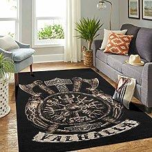 Veryday Viking Runes Rug Decorative Living Room