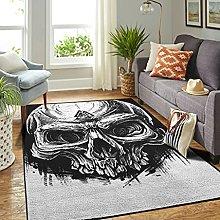 Veryday Viking Skull Runes Rug Vintage Living Room
