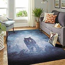 Veryday Wolf Forest Luxury Living Room Rug as Door