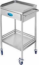 VEVOR 2-Layer Lab Medical Cart with Upper Drawer