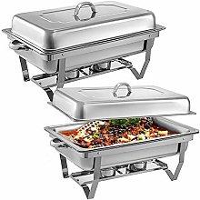 VEVOR 2 Packs Chafing Dish 8 Quart Stainless Steel
