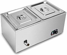 VEVOR 2-Pan Countertop Food Warmer 850W Electric