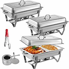 VEVOR 3 Packs Stainless Steel Chafing Dishes Sets