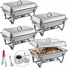 VEVOR 4 Packs Chafing Dishes Set 8 Quart Stainless
