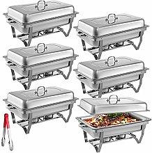VEVOR 6 Packs Stainless Steel Chafing Dish Set 8