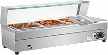 VEVOR Bain Marie Food Warmer 3-Pan Commercial Food