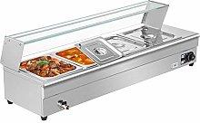 VEVOR Bain Marie Food Warmer 4-Pan Commercial Food