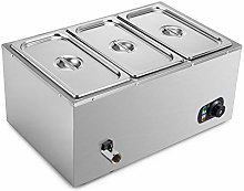 VEVOR Commercial Food Warmer 3-Pan 850W Electric