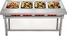 VEVOR Commercial Steam Table Food Warmer 4 Pot,