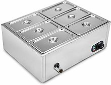 VEVOR Countertop Food Warmer 6-Pan Commercial Food