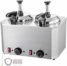 VEVOR Hot Cheese Pump Fudge Warmer 2 Pumps