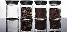 Vevouk 4pcs Spice Storage Jars Set,Mini Glass Jar