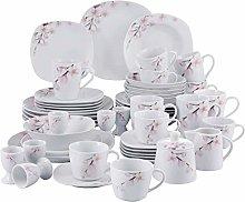 VEWEET 'Annie' 50-Piece Porcelain Dinner