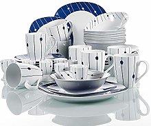 VEWEET 'Dot' 40-Piece Dinner Set Ivory