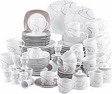 VEWEET 'Nikita' 100-Piece Porcelain Dinner