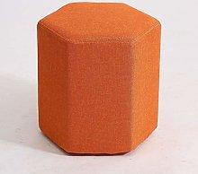 VFGDF Footstool,Creative solid wood fabric