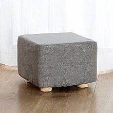 VFGDF Sofa Stool Solid Color Fabric Small Wooden