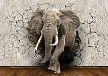 VGFGI Picture Wallpaper Elephant 3D Wall Opening