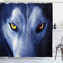 vgfjjuhn Bathroom Decoration Wolf Shower Curtain